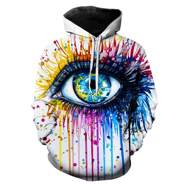 Rainbow Eye by Pixie,Cold Art Autumn Sweatshirts Men,Hoodies 3D Printing Pullover Funny Tracksuits Streetwear Hoody