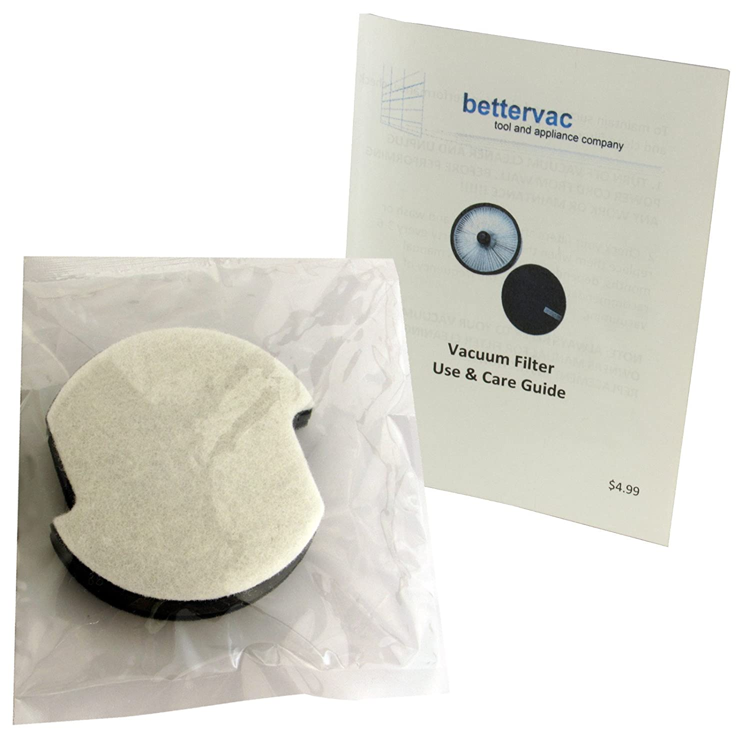 Bissell PowerLifter & Powertrak Pet Sealed Frebreze Vacuum Filter #1604102 Bundled With Use And Care Guide