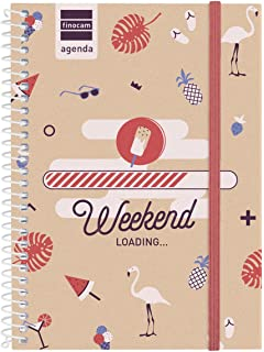 Finocam Prints - Agenda Septiembre 2018 - Agosto 2019 , Multicolor (Weekend), 120