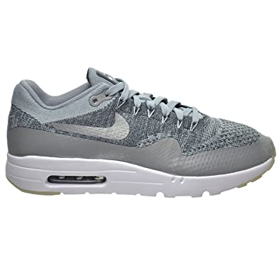 1524820d0192 ... official nike air max 1 ultra flyknit mens shoes wolf grey dark grey  white 843384 6e8c2