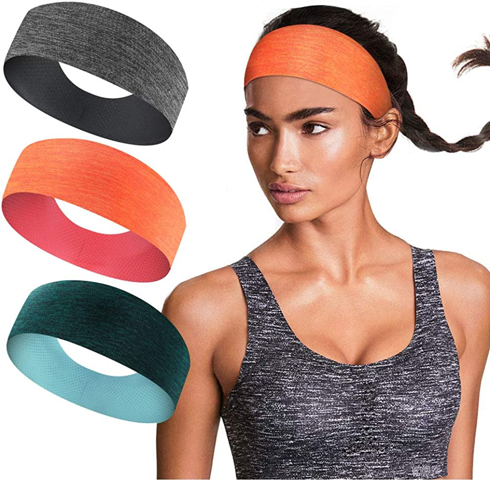 Sports Sweatbands for Men and Women,Non Slip Lightweight Headband Moisture Wicking Workout Hairband for Exercise