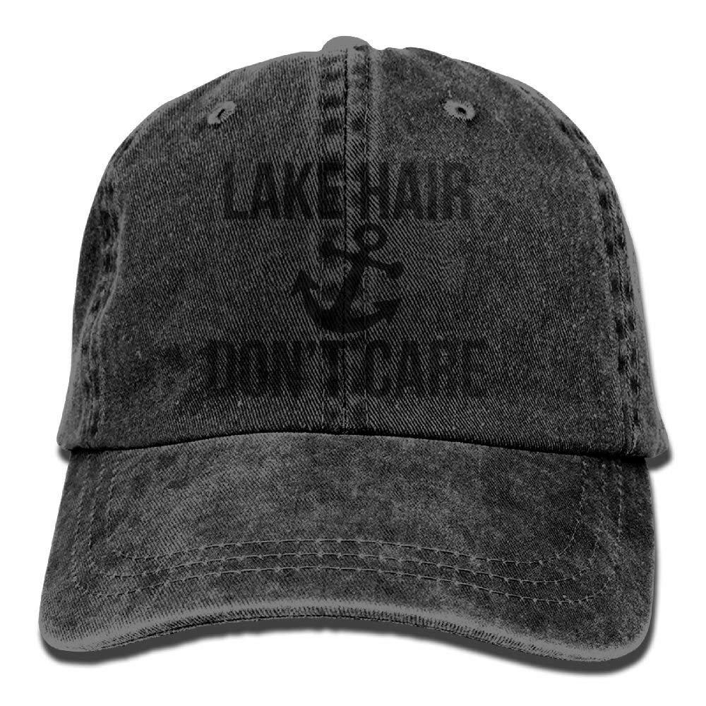 JTRVW Cowboy Hats Lake Hair Dont Care Denim Hat Adjustable Female Dad Baseball Hats