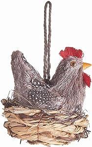 "Napa Home & Garden SISAL French Hen Ornament 5.25"" H"