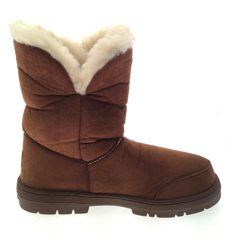 e715f561ee16 Ella Lora Dora Womens Faux Fur Sheepskin Snugg Snow Boots  Amazon.co.uk   Shoes   Bags