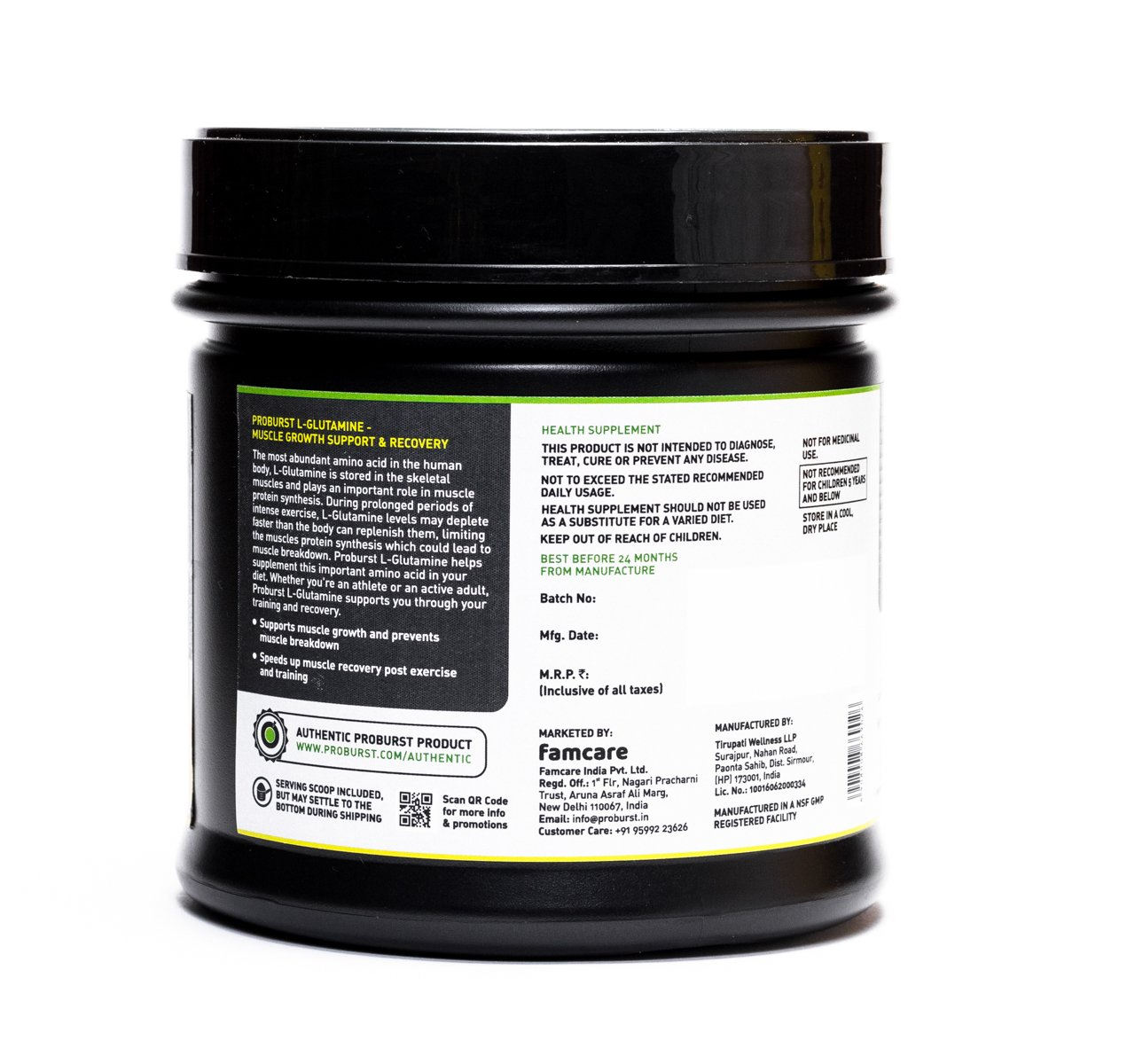 Best 100% Pure L-Glutamine Powder For Muscle Growth and Recovery