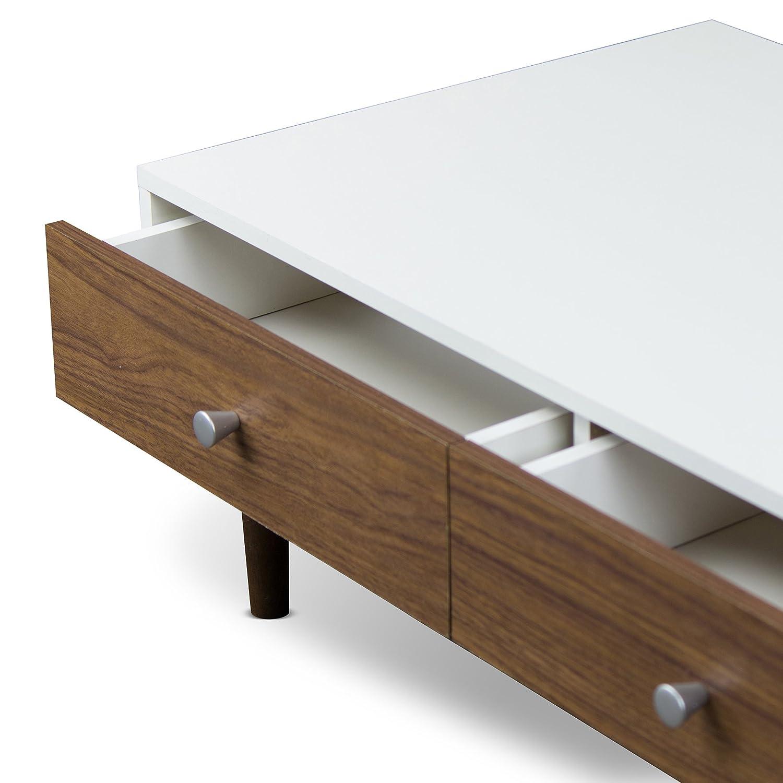 Amazon Baxton Studio Gemini Wood Contemporary Coffee Table