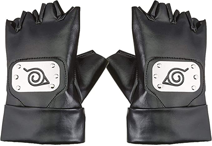 Cosplay Gloves Hatake Kakashi Ninja Cosplay Accessories(Size: One Size, Color Black)