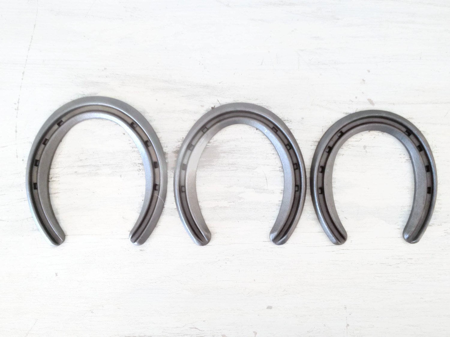 New Steel Horseshoes - Lite Rim Size 1 -Sand Blasted- Heritage Forge - 2 Shoes by The Heritage Forge (Image #3)