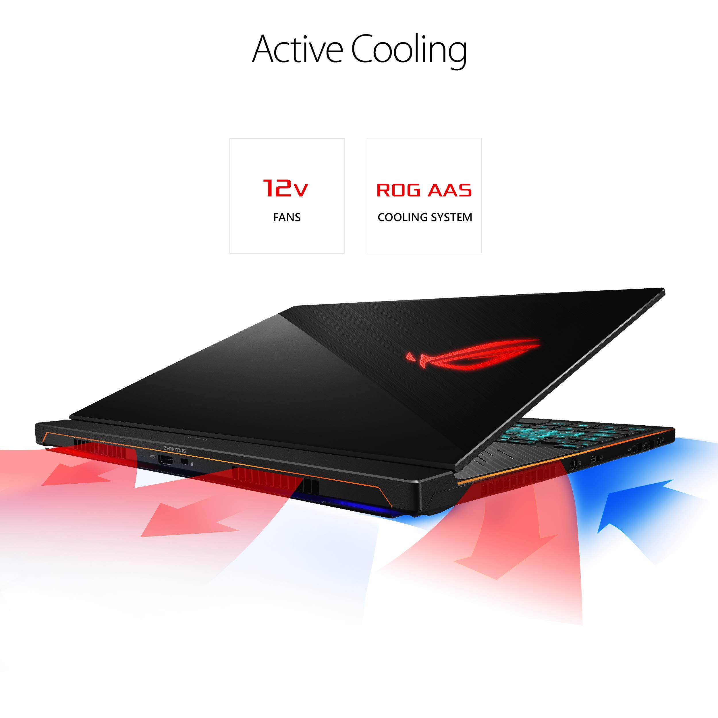 "ASUS ROG Zephyrus S Ultra Slim Gaming Laptop, 15.6"" 144Hz, i7-8750H, GTX 1070, 16GB DDR4, 512GB PCIe NVMe SSD, GX531GS-AH76 & ASUS ROG Pugio RGB Gaming Mouse Bundle"