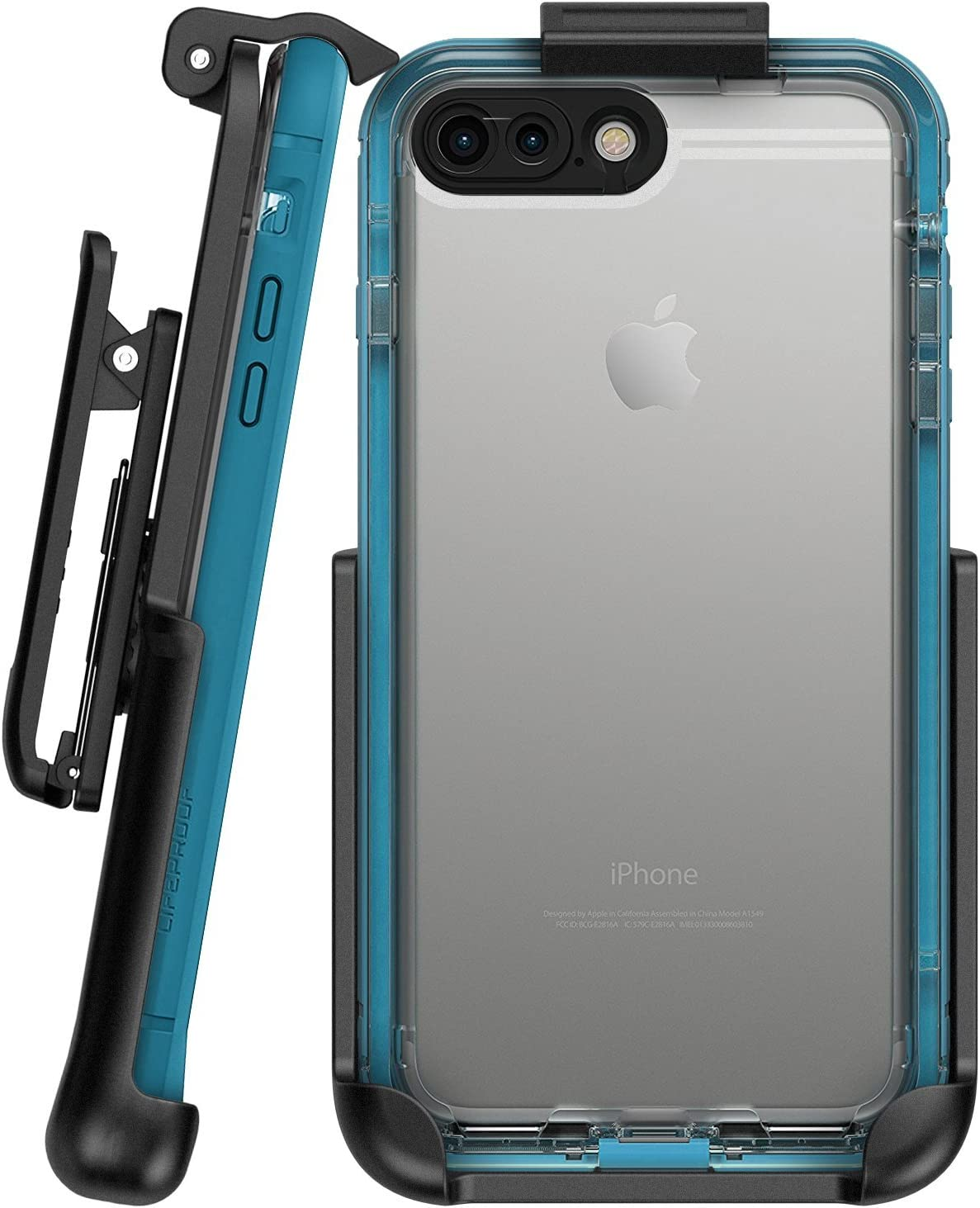 "Encased Belt Clip Holster Compatible with Lifeproof Nuud Case - iPhone 8 Plus 5.5"" (case Not Included)"