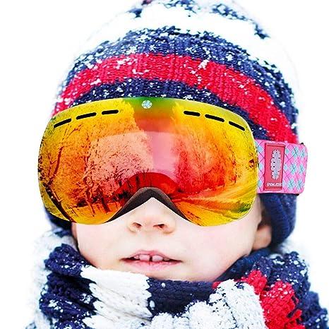7b974b9c9b83 Amazon.com   HUIYU Kids Ski Goggles - Kids Ski Snowboard Goggles ...