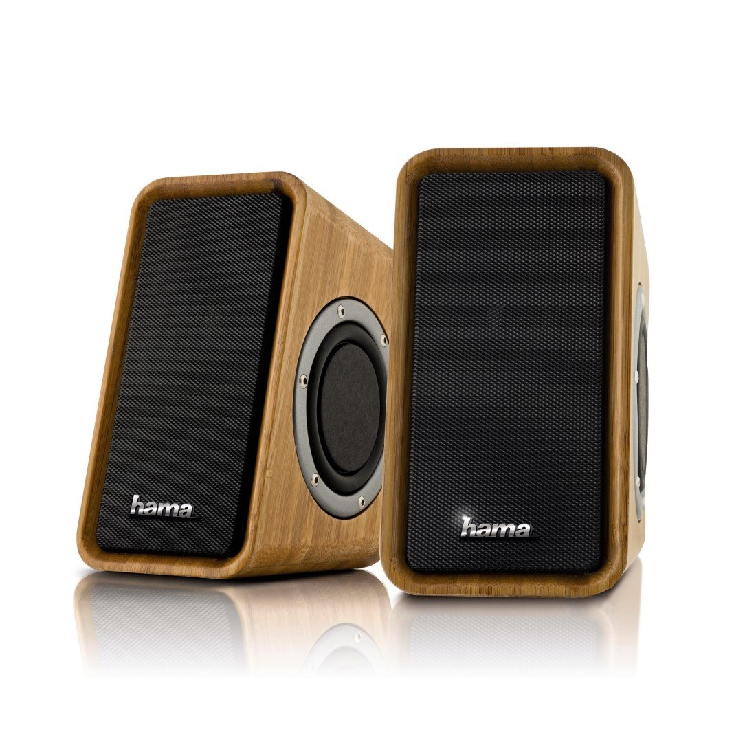 052805 hama bambus bamboo pc speaker pc. Black Bedroom Furniture Sets. Home Design Ideas