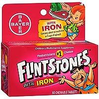 Flintstones Children's Multivitamin Plus Iron Chewable Tablets, 60-Count (Pack of 3)