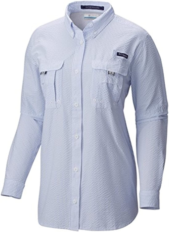 Columbia Womens PFG Super Bahama Long Sleeve Shirt UV Protection Breathable
