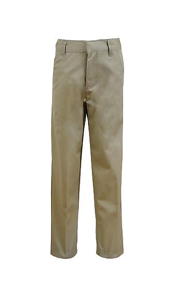 8f7f867d3 Galaxy by Harvic Boys Double Knee Slim Fit School Uniform Pants - 4 Pockets  - Khaki