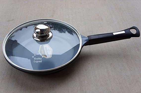 9.5 Fry pan with Non-stick German Weilburger Ceramic Coating by Healthy Legend -ECO Friendly Non-toxic Cookware by Healthy Legend: Amazon.es: Hogar