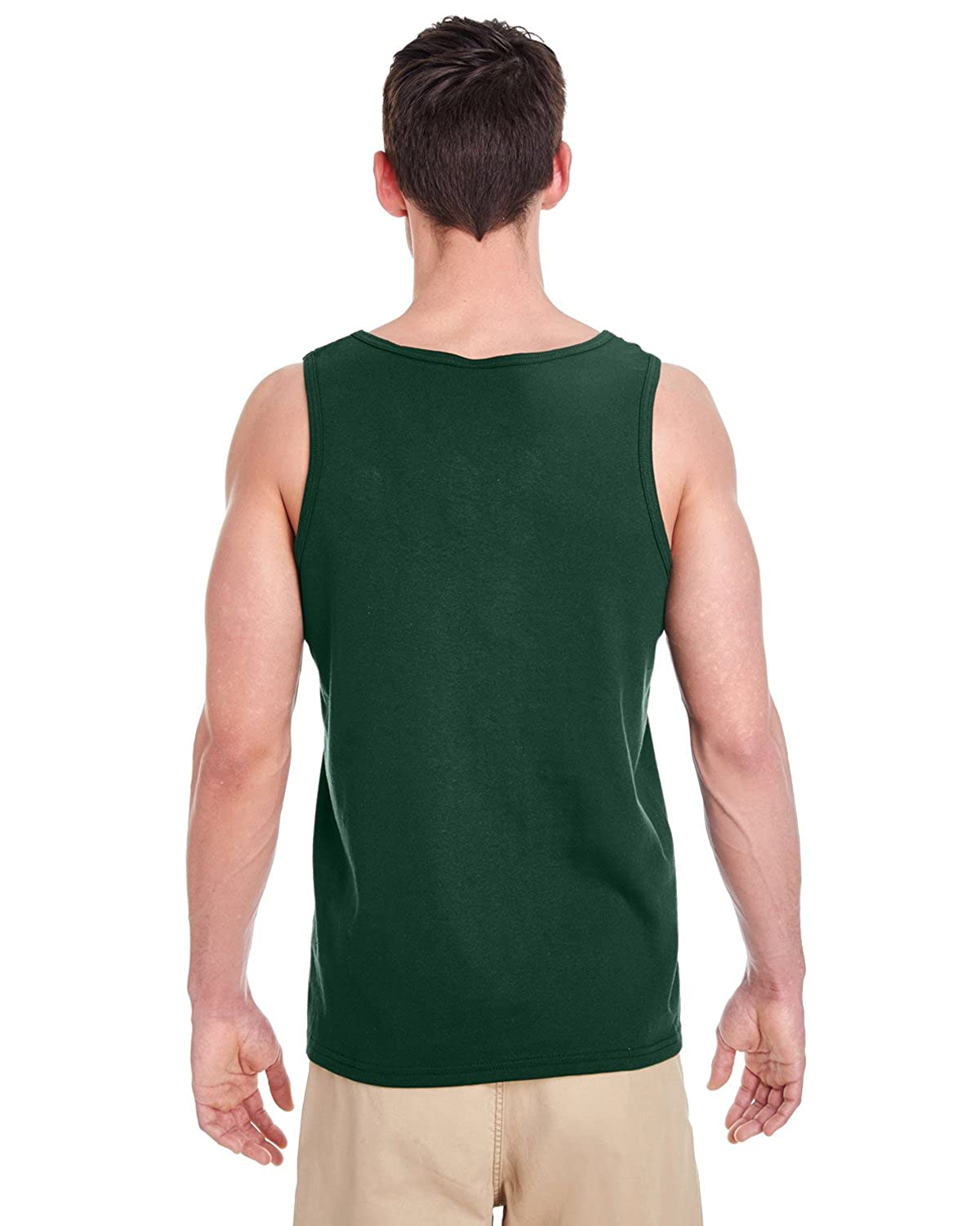 485447ce4c Gildan Heavy Cotton Tank Top. 5200 Forest Green at Amazon Men's Clothing  store: