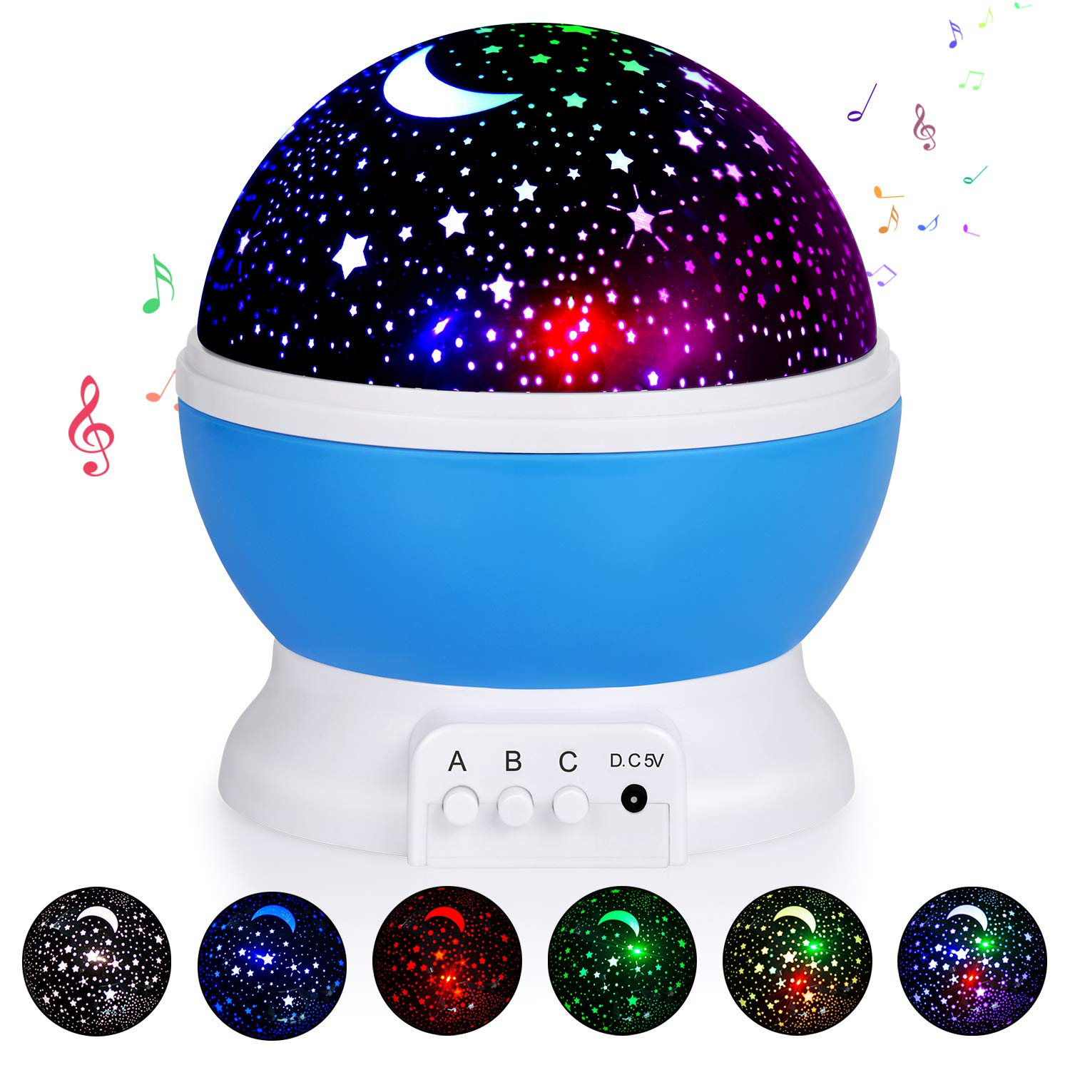 Kids Star Night Light, 360-Degree Rotating Star Projector, Desk Lamp 4 LEDs 8 Colors Changing with USB Cable and Battery, Best for Children Baby Bedroom, Unique Gift for Birthday night light Night Light Review – 3 affordable night lights on Amazon 71ZmcpDuZiL