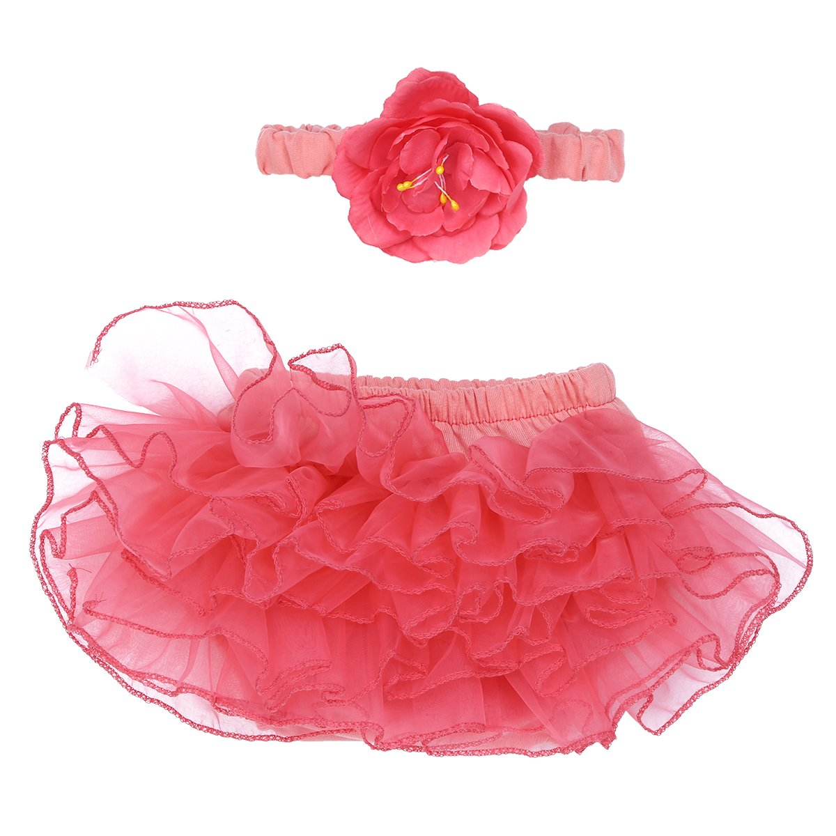 【国際ブランド】 iiniim赤ちゃんの女の子の写真プロップ服装diaper-shapedブリーフチュチュスカートwith Flowerヘアバンド B06Y11N3YX Flowerヘアバンド B06Y11N3YX, サイクルジャパン:da0f5fc8 --- quiltersinfo.yarnslave.com