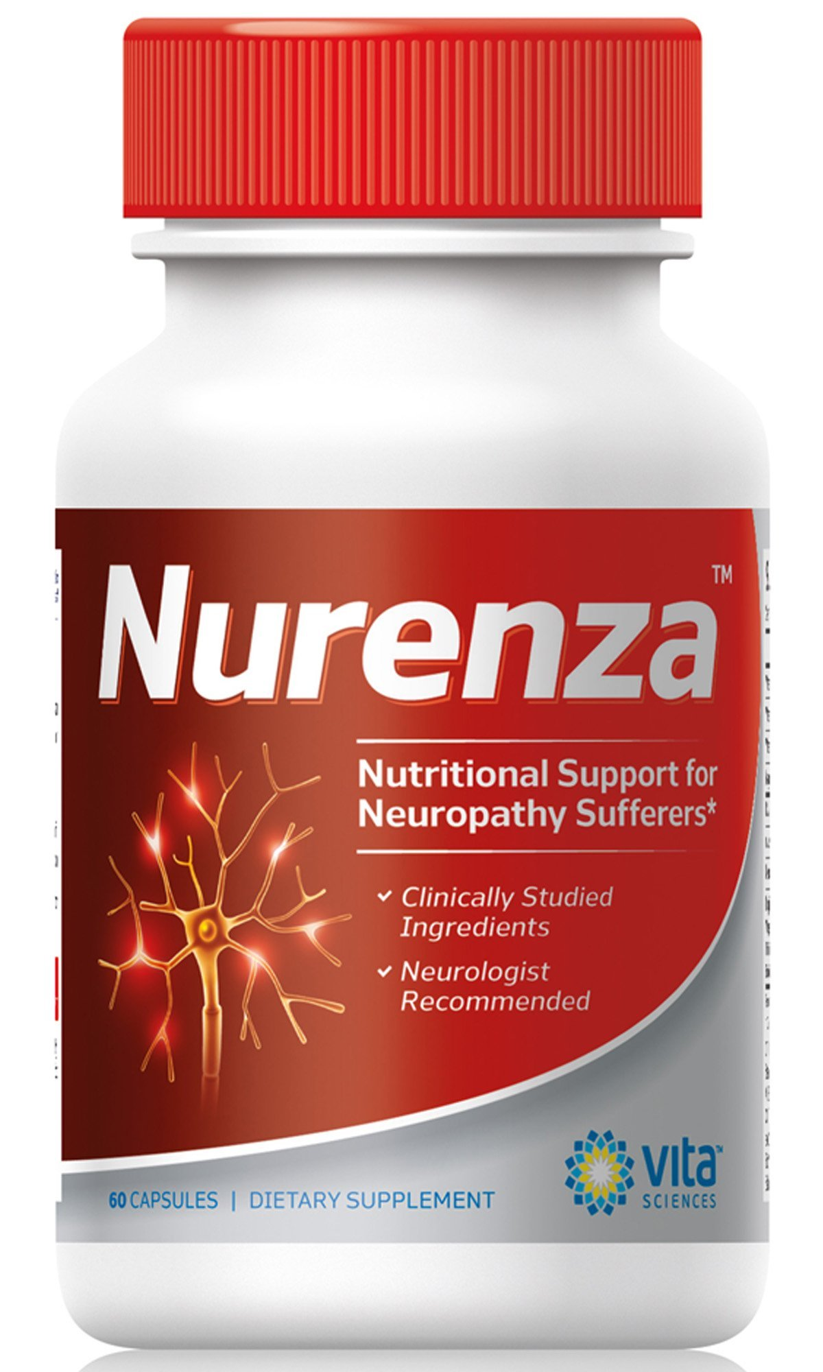 Neuropathy Supplement Nerve Pain Relief Natural R-ALA Form 10x Strength, NOT Synthetic Alpha Lipoic Acid | Feet, Hands, Legs, Toes Renew Repair Vitamins | Nurenza is for Everyone Incl. Diabetics