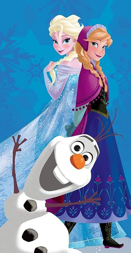 Disney Frozen Redonda 2 1 Polyester Referencia KD Playa lavarse la Cara-Toallas Textiles del hogar Unisex Adulto /única Multicolor Multicolor