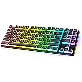 Havit Mechanical Gaming Keyboard with RGB Lighting, PBT Pudding Keycaps Tenkeyless TKL Wired Mechanical Keyboard Blue Switche
