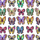 JAM Paper® Industrial Size Bulk Wrapping Paper Rolls - Flutter Butterflies Design - 1/4 Ream (416 Sq Ft) - Sold Individually