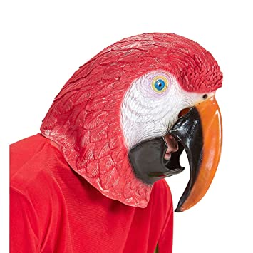 Amakando Vogel Tiermaske Papagei Maske Ara Vogelmaske