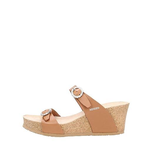 Size 37 Mephisto mujer Zuecos marrón para TqTwI0nX