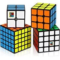 Aiduy Speed Cube Set, Magic Cube Set of 2x2x2 3x3x3 4x4x4 5x5x5 Speed Cube Vivid Color Sticker, Puzzle Cube with Gift Box Great Gift for Kids