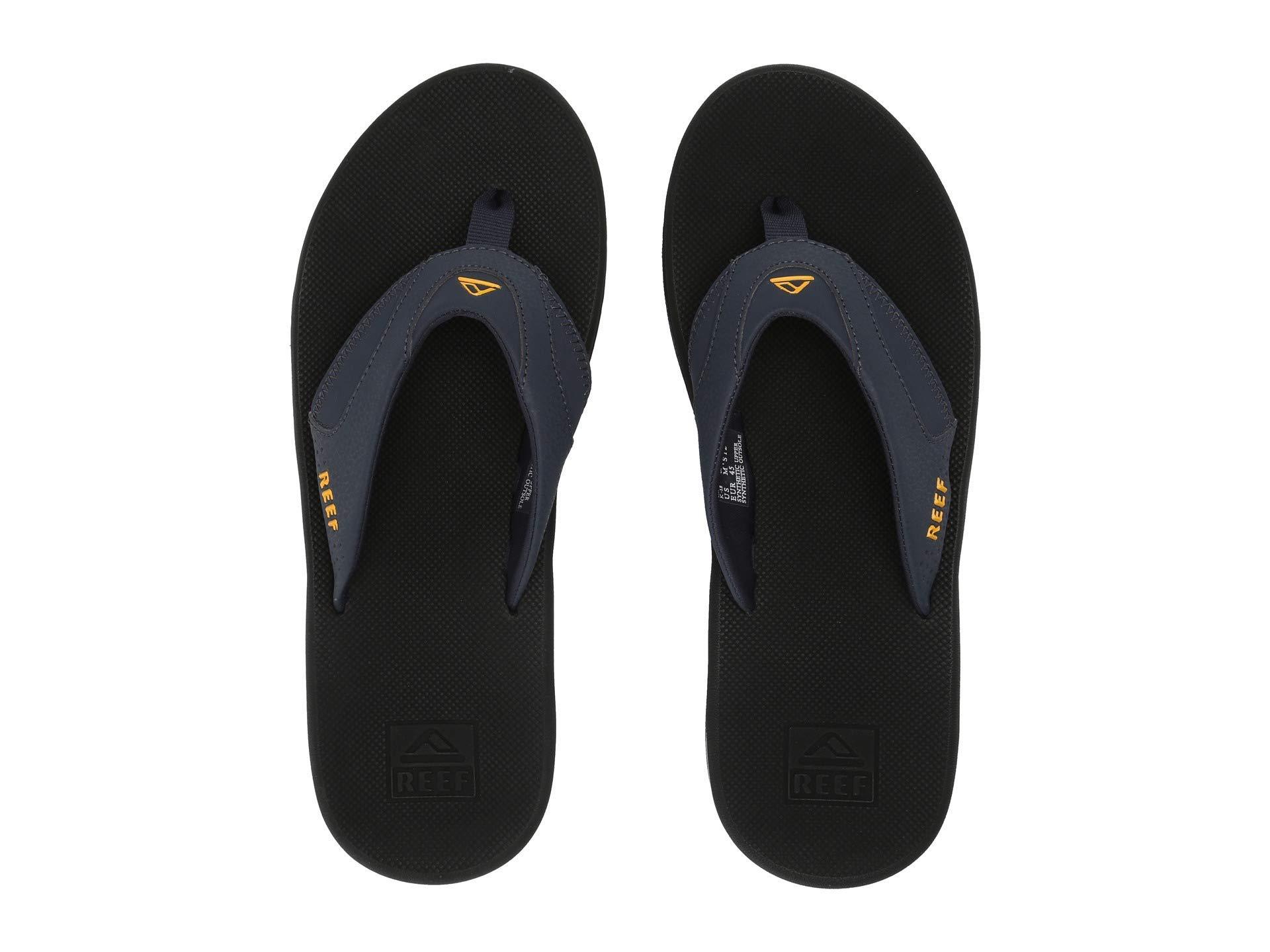 Reef Men's Fanning Sandal Navy/Yellow Size 9