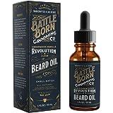 Beard Oil by Battle Born Grooming Co: Revolution (Cedarwood / Vanilla / Clove) | All Natural Beard Conditioning Oil | 30 ml | 1 oz