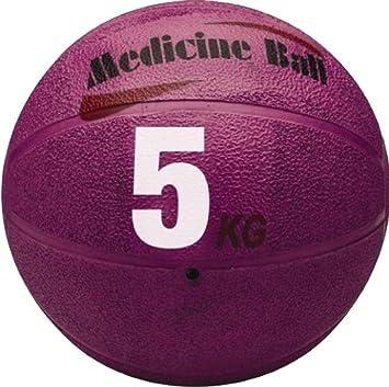 MMA boxeo Fitness - Balón medicinal de goma formación, 5kg-Black ...