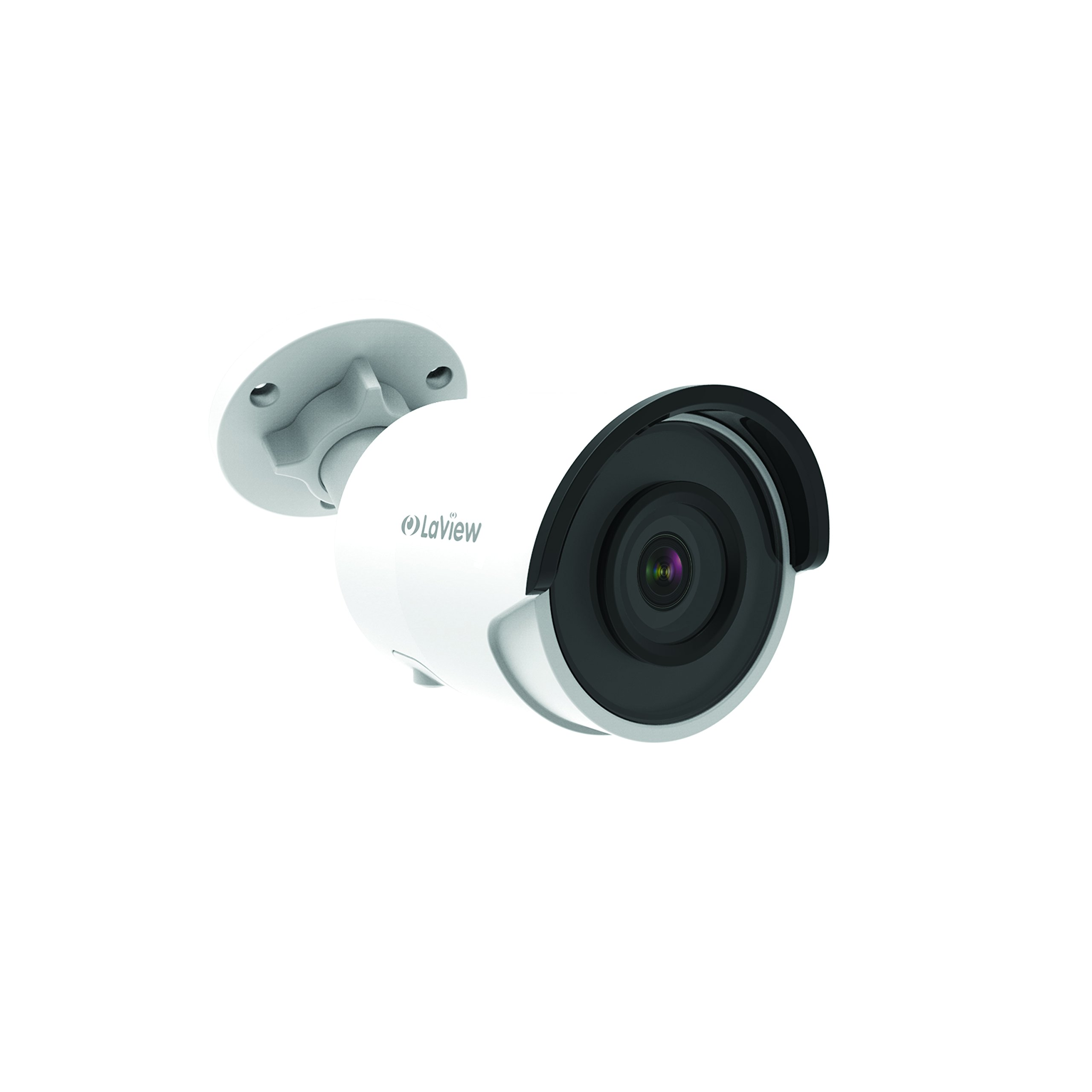 LaView 4K (8MP) Camera, IP PoE Ultra-HD H.265+ Smart Security Bullet Camera (3840x2160), without Built-in MicroSD card slot by LaView
