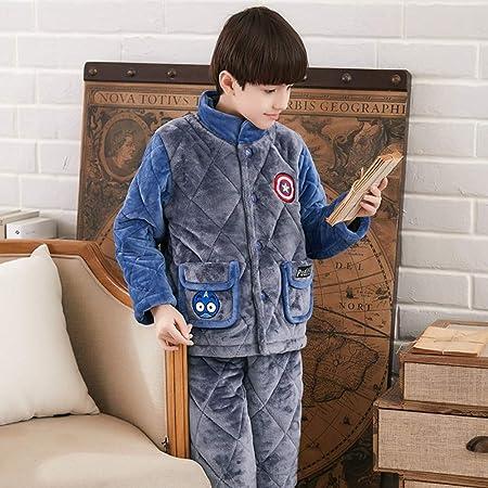 OPPP Pijamas de niños Pijamas Infantiles engrosados niño ...