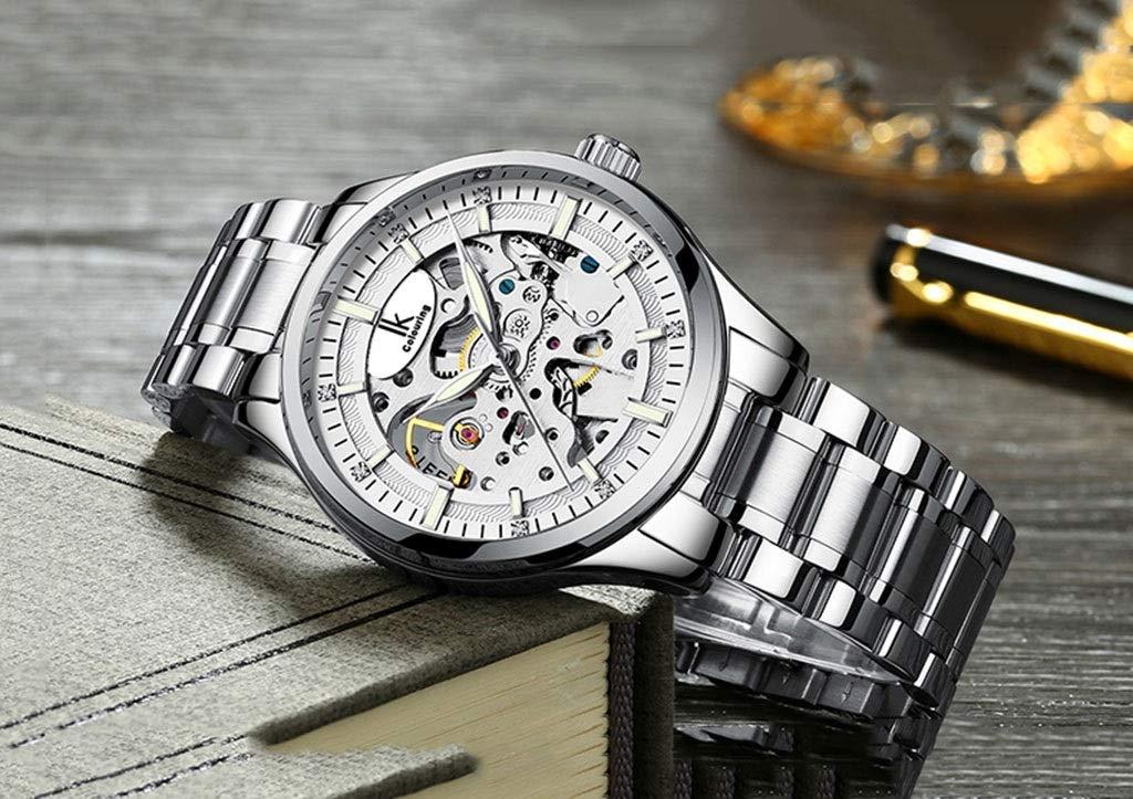 wyz Mekanisk klocka för män automatisk ihålig trend vattentät lysande ny klocka (färg: C-1) B-2