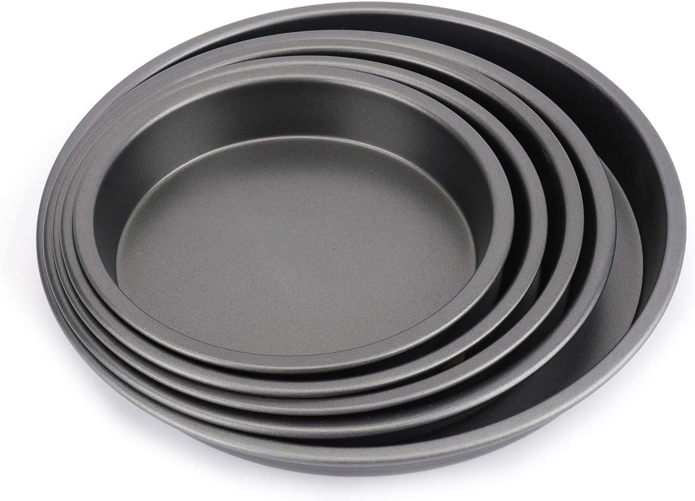 Bekith 5-Piece Set Pizza Pans, Non-stick Deep Dish Round Bakeware