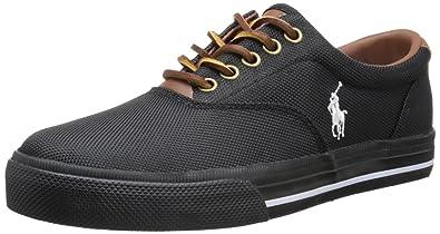 Polo Ralph Lauren Men's Vaughn Nylon Sneaker,Black Nylon,7 ...