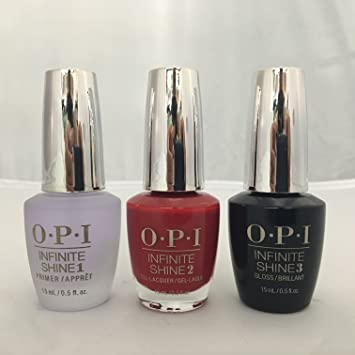OPI Infinite Shine 3 Pack! Primer, Big Apple Red, Gloss by OPI ...