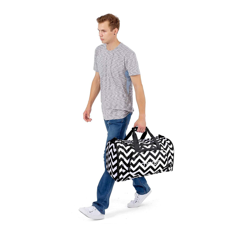 Chevron Noir MOSISO Sac de Sport avec Compartiment Chaussures en Polyester R/ésistant /à leau,Pliables Sac Voyage Bagages Fitness Sac Sport Gym Dance
