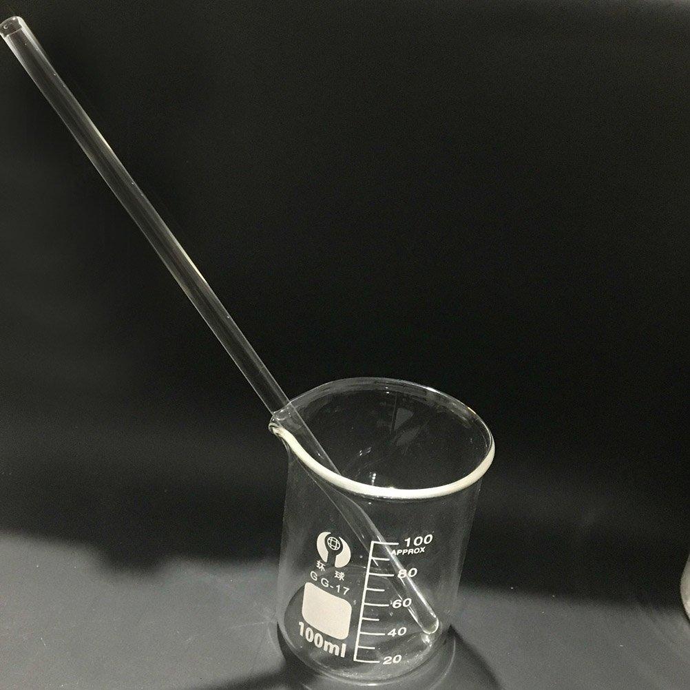 UKCOCO 10Pcs Glass Stirring Rod High Temperature Resistant Glass Stir Stick for Stir Hot Cold Beverages Cocktails Drinks Mixtures by UKCOCO (Image #5)