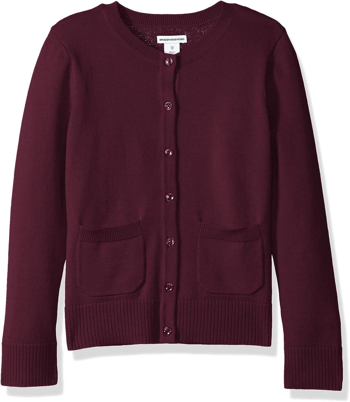 Essentials Girls Uniform Cardigan Sweater