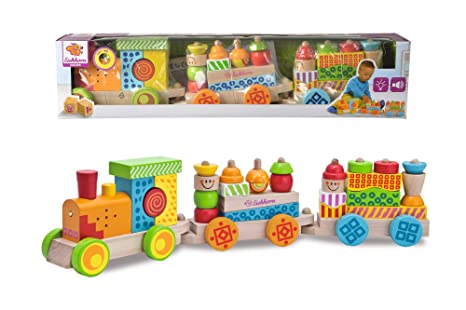 Holzspielzeug Goki Sort Box aus Holz bunt mit 11 Teilen ab 12 Monaten Feinmotorik WM254 Steckspiele