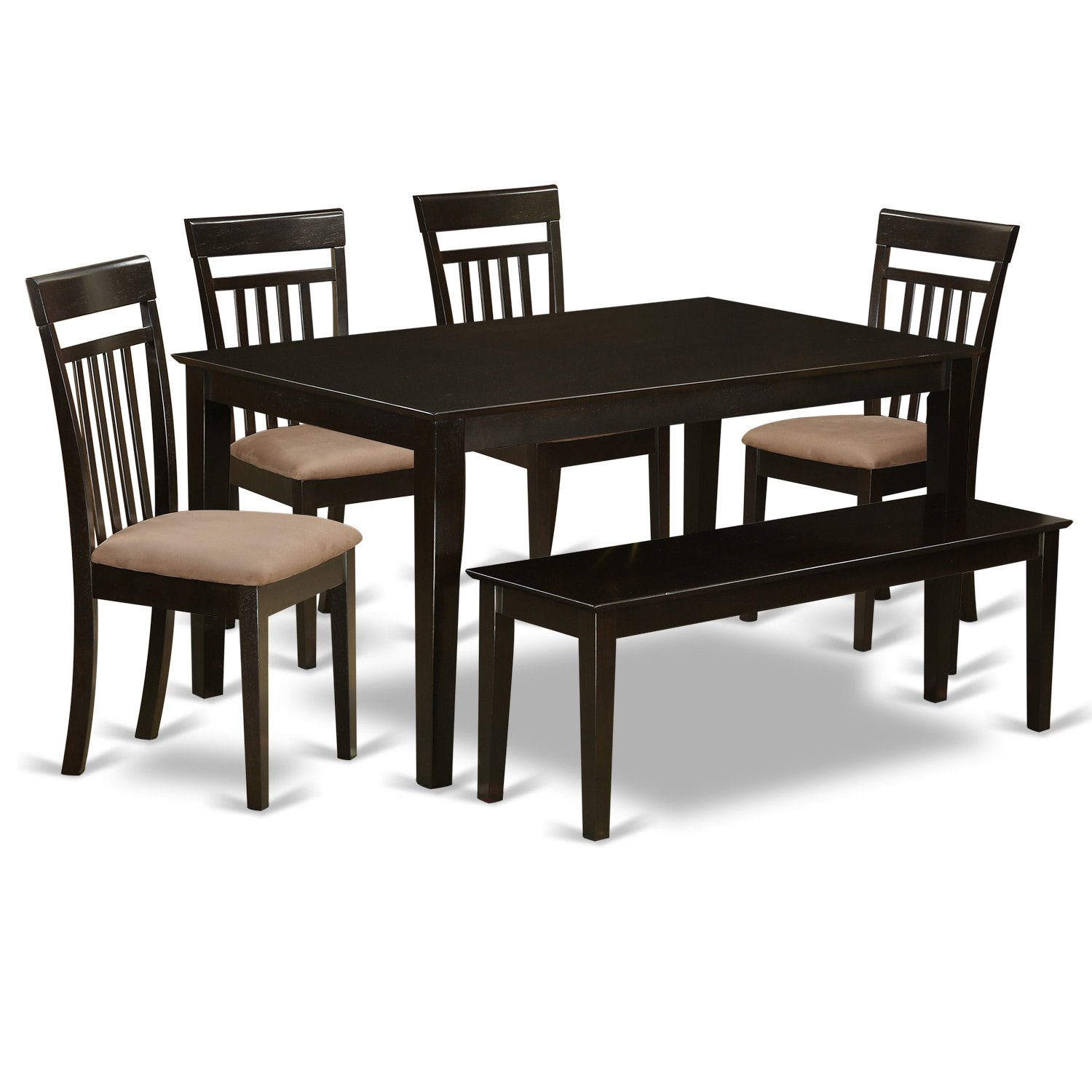 Amazon com cap6s cap c 6 pc dining room set top kitchen table and 4 kitchen chairs plus a bench kitchen dining