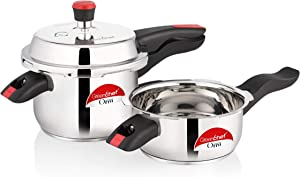 Greenchef Orra Stainless Steel Induction Bottom Pressure Cooker (2L & 3L)