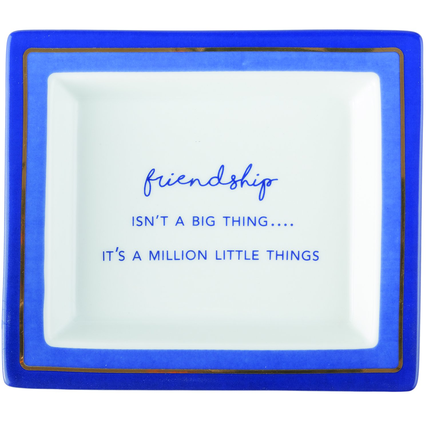 Two's Company Big Million Little Things Porcelain Wise Sayings Friendship Desk Tray in Gift Box Two's Company 51713