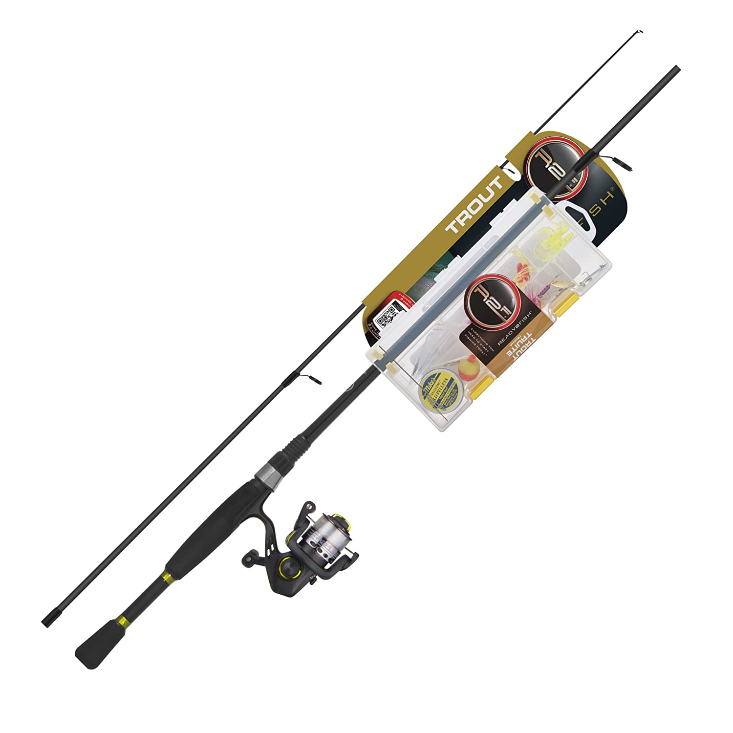 2c611eeb059 Amazon.com : Ready 2 Fish Trout Spin Combo with Kit, Ultra Light : Spinning  Rod And Reel Combos : Sports & Outdoors