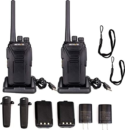 with 5 Port USB Charger 5 Pack Retevis RT27 Walkie Talkies Rechargeable 22CH Scrambler VOX Function Handheld 2 Way Radio