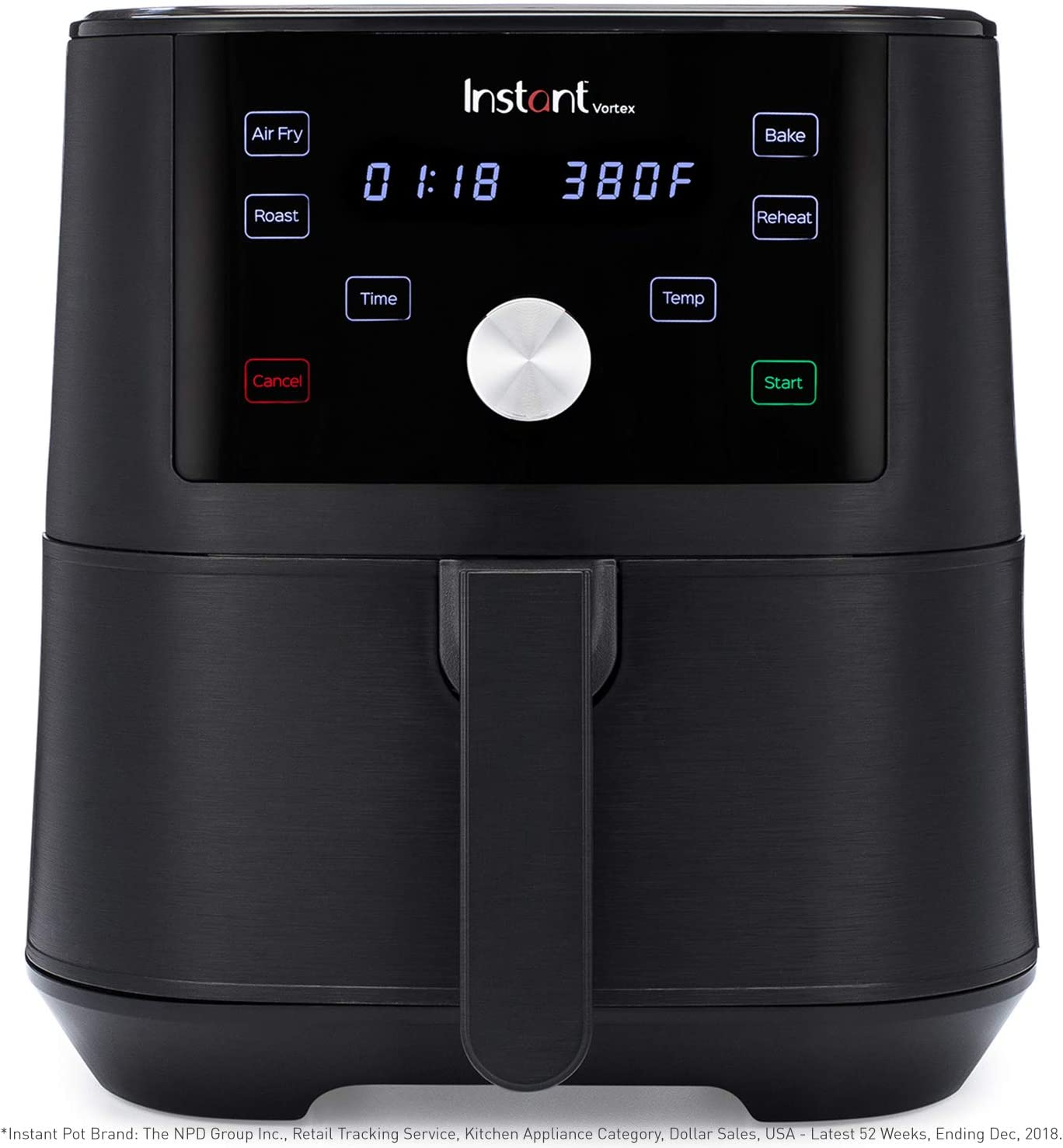 Instant Vortex 4-in-1 Air Fryer, 6 Quart, 4 One-Touch Programs, Air Fry, Roast, Bake, Reheat