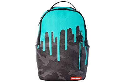 3d00a08a2f28b0 Sprayground Tiff Drips Print Backpack Unisex Style: 910B1601NSZ-CAMO/TEAL  Size: One